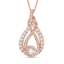t w diamond pendant in 10k rose gold 19