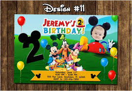 Mickey Mouse Clubhouse 2nd Birthday Invitations Mickey Mouse Clubhouse 2nd Birthday Invitations Serpto