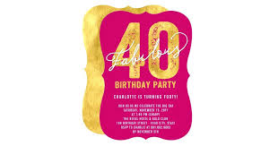 40th birthday party invitation cards birthday invitations new gold forty and fabulous birthday party invite of 40th birthday party invitation