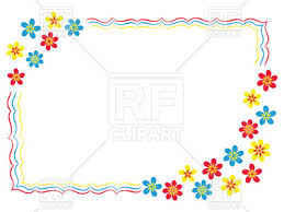 simple frame design. Simple Cartoon Frame With Floral Corners And Wavy Border Vector Image \u2013  Artwork Of Borders Simple Design