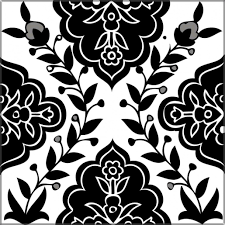 black and white tile pattern. Unique Pattern Made With A Combination Of Hand Screening And Painting These Unique  Black U0026 White Tile Designs Add Subdued Decorative Element To Any Bathroom Or  In Black And Pattern E