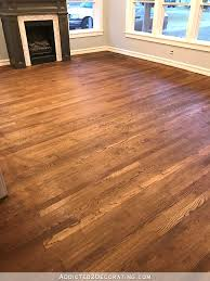 staining red oak hardwood floors 8a living room and entryway