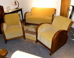 art deco furniture restoration. original restored french art deco sofa suite settee with fabulous wood furniture restoration c