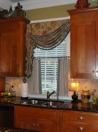 kitchen window treatments stencil