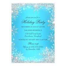 Winter Wonderland Invitations Diy Party Snowflake Invitation