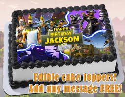 Fortnite Edible Birthday Cake Topper Personalized Item Premium