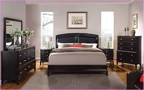 modern black wood bedroom furniture set for modern bedroom