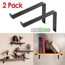 2pcs 15 x 8cm industrial pipe shelf