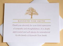 Personalized Sympathy Thank You Cards Thank You Cards Bereavement Bio Kinder