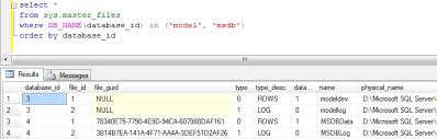 how to move model msdb databases