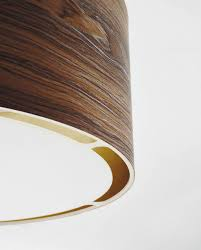 contemporary ceiling light round wooden led