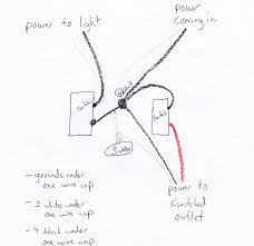 electrical how should i wire 2 switches that control 1 light and 1 half switched outlet wiring diagram enter image description here