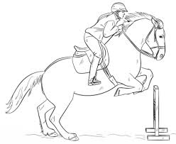 horses jumping coloring pages. Perfect Horses Jumping Horse With Rider Coloring Page On Horses Coloring Pages U
