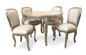 french style dining table chairs. french style furniture carved round dining table and 4 chairs silver d
