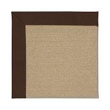 capel rugs zoe sisal brown indoor outdoor area rug common 8 x