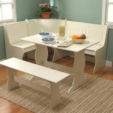 kitchen breakfast nook furniture. White Corner Dining Set Breakfast Nook Bench Table Kitchen Furniture