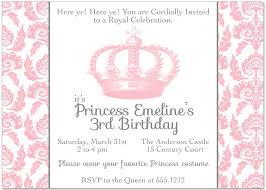 Princess Invitations Free Template Pink Princess Baby Shower Invitation Templates For Royal Printable