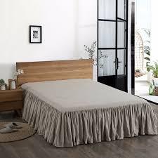 dust ruffle king. Unique Dust ESASILK 100 French Linen Flat Bed Skirts Dust Ruffle Sheet King Queen Twin  Size 1 Intended U