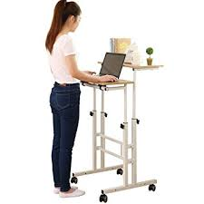 office desk height. SDADI 2 Inches Carpet Wheel Mobile Stand Up Desk Height Adjustable Home Office With Standing