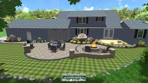 Patio Landscape Design Pictures 3d Paver Patio And Landscaping Design Using Realtime