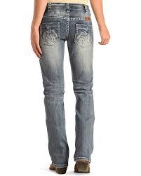 Tuff Jeans Size Chart Cowgirl Tuff Womens Blue Buckin Horse Jeans Boot Cut