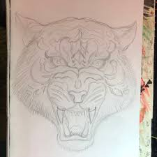 Antone On Twitter Sketched Up A Traditional Style Tiger Drawing