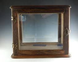 antique wood and glass display box