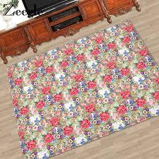 zeegledoor mat flower carpet for living room anti slip kitchen rugs bathroom mat soft carpets for children kids bedroom