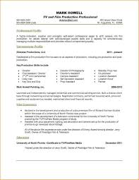 Resume Examples One Page