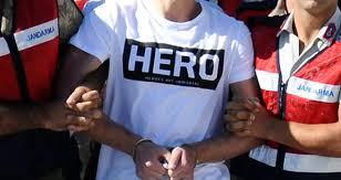 HERO tişörtüyle mahkemeye gelen şüpheli tutuklandı