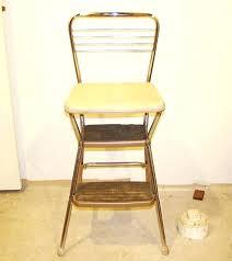 cosco stool step stool chair vintage chrome retro blue costco bar stools