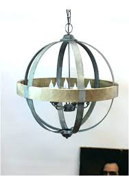 wood and metal orb chandelier wood and metal chandelier orb wood metal orb chandelier