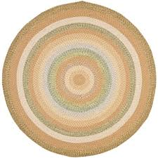 safavieh braided 4 round hand woven polypropylene rug in tan only