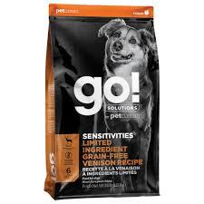 <b>Go</b>!,<b>Adult</b> - <b>Sensitivities</b>, GF LID - Venison - 1.58 kg - Ren's Pets