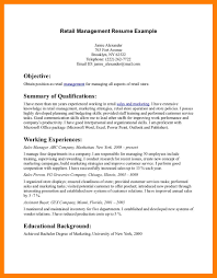 Resume Templates For Retail Jobs Sample Email Resume