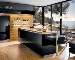 best kitchen furniture. Kitchen Furniture Interior Creative Modern Design Wooden Table Underneath A Black Granite Wall Best