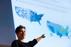 civic math mathematicians wield geometry train experts in effort moon duchin addresses gerrymandering conference