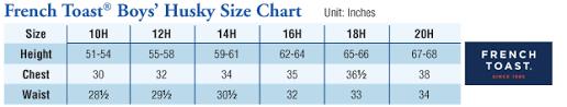 Husky Boys Pants Size Chart Husky Sizes Chart Goldenacresdogs Com