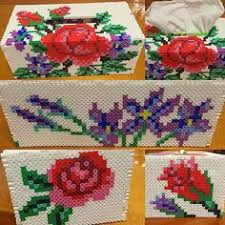 3d tissue box perler bead pattern hama beads rose tissue box cover perler beads by starmiti