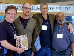 E. Wolfmeyer Quilts: October 2010, Men & the Art of Quilting ... & With Joe Cunningham (third from left), author of Men & the Art of Quilting,  along with two other featured quilters: Mike McNamara (far left) and  Raymond ... Adamdwight.com