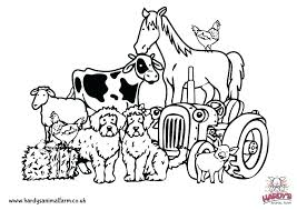 Free Printable Pictures Of Farm Animals Coloring Pages Flowers Free