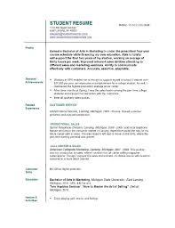 Resume For College Student Still In College Resume Corner