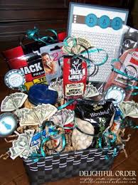 image result for diy gift baskets for men
