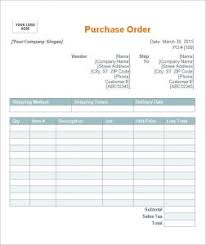Purchase Order Form Template Sample Purchase Order Template Business 94