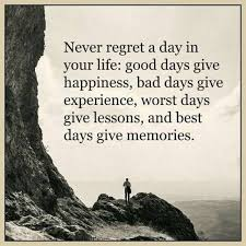 Quotes Of The Day About Life Impressive Best Life Quotes About Happiness Never Regret Day Life Best Day