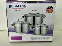 <b>Набор</b> кастрюль <b>Bohmann BH 1906</b> (3,9 л. 4,7 л. 6,5 л.), цена ...
