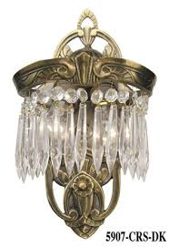 art deco wall sconces crystal lincoln utopia series with 2 lights 5907 crs