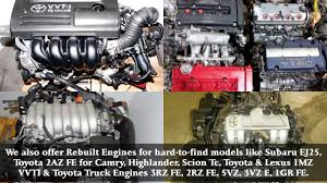 Toyota Highlander Rebuilt 1MZ VVTI V6 Engine for Sale - Video ...