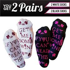 dels about wine socks if you can read this bring me a gl of wine funny gifts