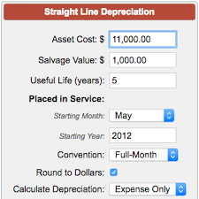Straight Line Depreciation Calculator